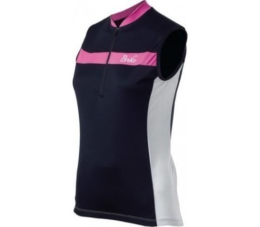 Tricou ciclism Briko Sparkling Lady Alb/ Violet/ Negru