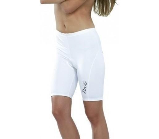 Pantaloni ciclism Briko Sparkling Lady Alb