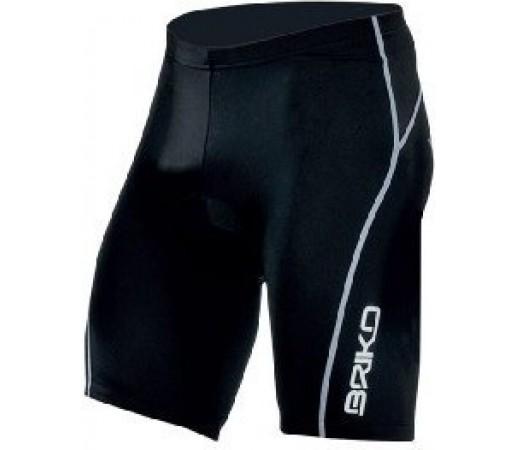 Pantaloni ciclism Briko Sparkling Short Man Negru/ Alb