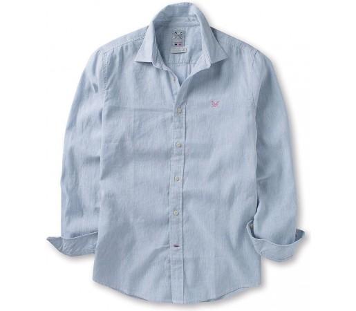 Camasa Crew Clothing Banton Linen Sky