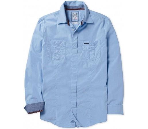 Camasa Crew Clothing Beckley Sky
