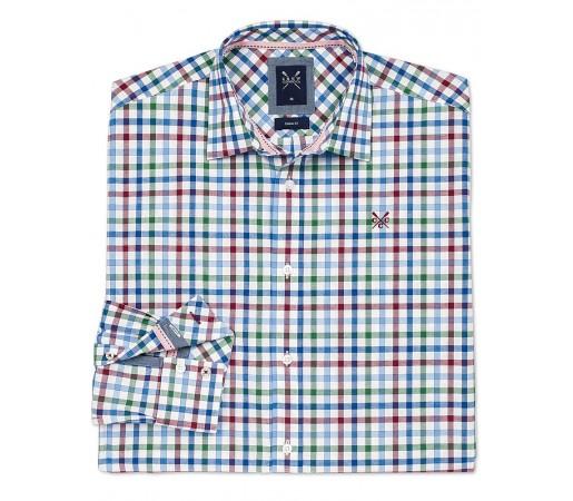 Camasa Crew Clothing Calshot Shirt Verde/Albastru/Rosu