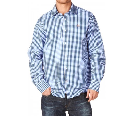 Camasa Crew Clothing Classic Gingham Cerulean