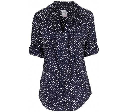 Camasa Crew Clothing Pintuck Navy Dot
