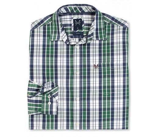 Camasa Crew Clothing Sandbanks Shirt Albastru/Verde