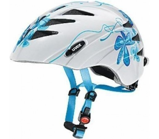 Casca bicicleta Uvex Junior White- Blue