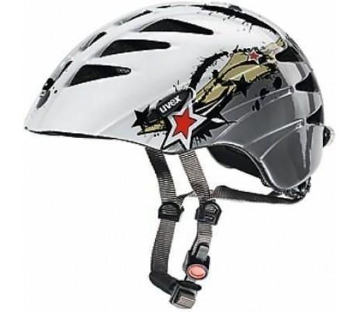 Casca bicicleta Uvex Junior White- Grey
