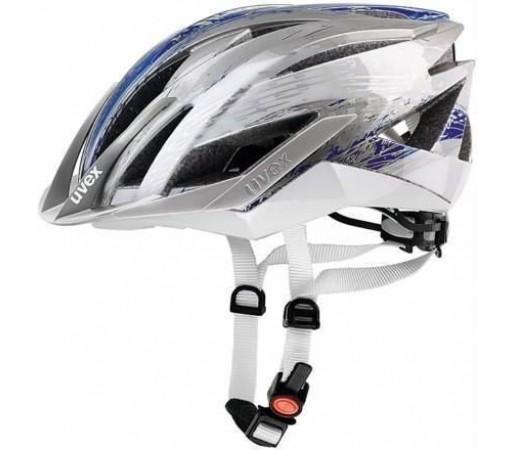 Casca bicicleta Uvex Ultrasonic Silver- Blue