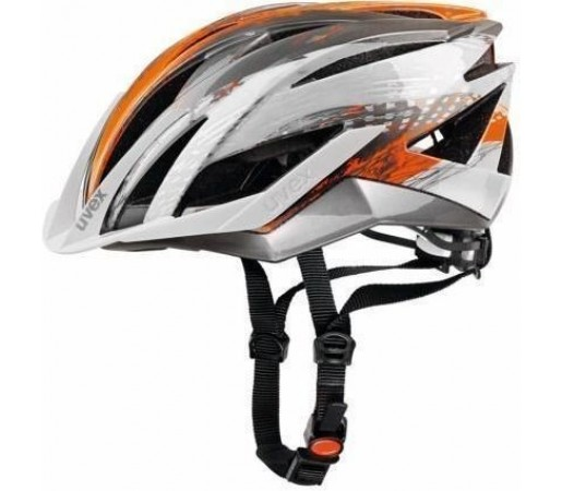 Casca bicicleta Uvex Ultrasonic Silver- Orange