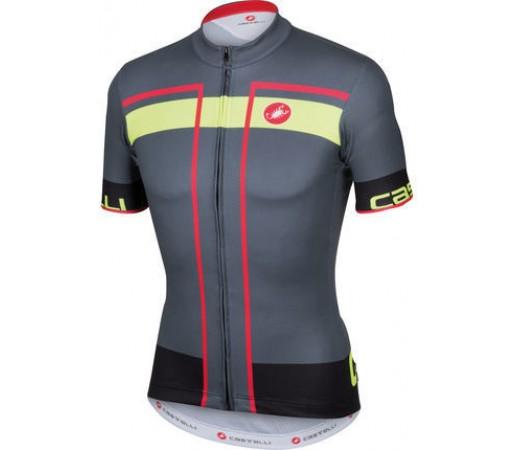 Tricou ciclism Castelli Velocissimo Gri/ Verde