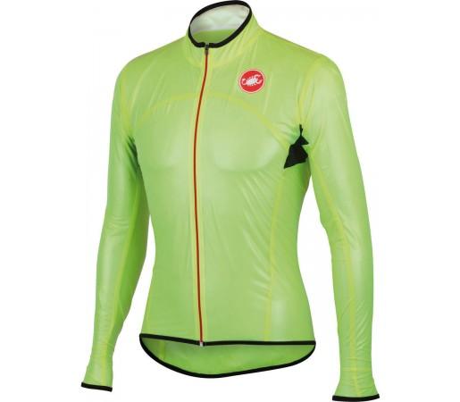 Jacheta de ploaie pentru ciclism Castelli Sottile Due Verde