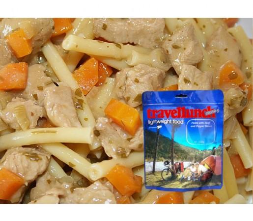 Aliment Travellunch carne de pui cu paste, morcov si mazare