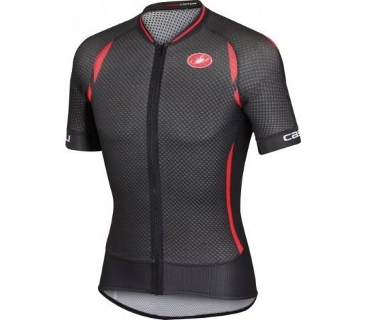 Tricou ciclism Castelli Climbers Negru/ Rosu