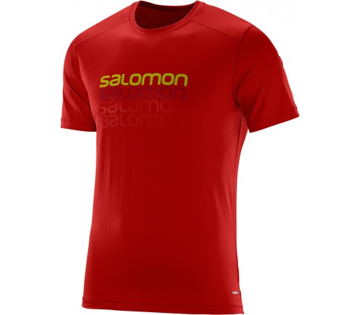 Tricou Salomon Cosmic Logo SS Tee M Rosu