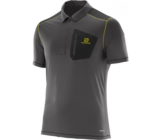 Tricou Salomon Cosmic Polo M Gri