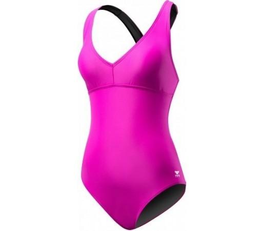 Costum de baie Tyr Solid Halter Twist Controlfit Pink
