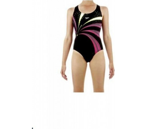 Costum de baie Speedo Girl Turbosnap Placement Splashback Negru/Roz
