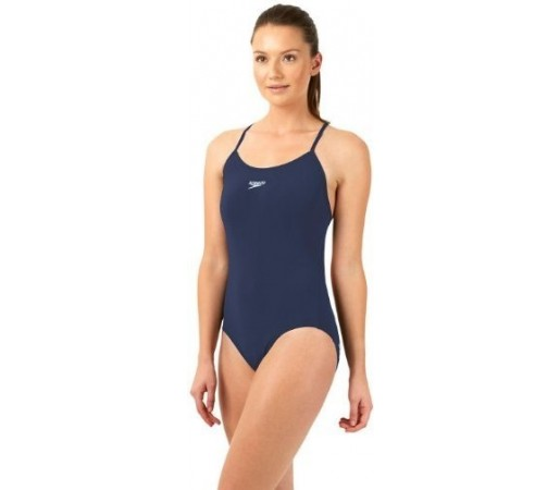 Costum de baie Speedo Woman Solid Rippleback Bleumarin