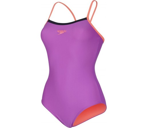 Costum de baie Speedo Woman Thinstrap Mov/Portocaliu