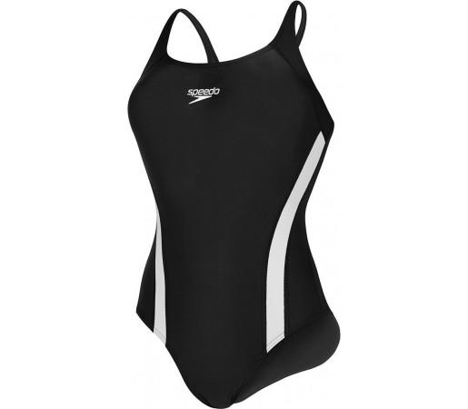 Costum de baie Speedo Woman Essential Pullback Negru/Alb