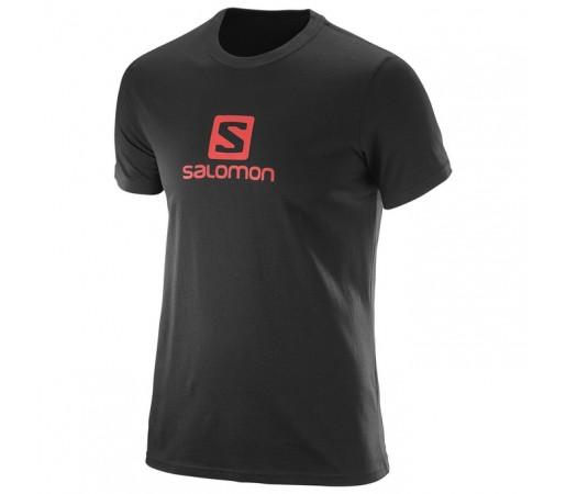Tricou Salomon Logo Ss Cotton Tee M Negru