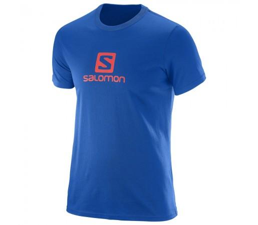 Tricou Salomon Logo Ss Cotton Tee M Albastru