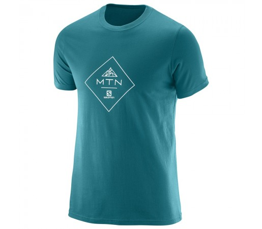 Tricou Salomon Mtn Cotton Tee M Verde