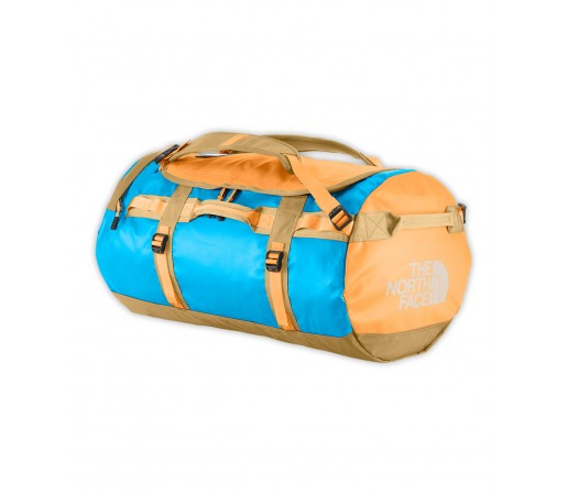 Geanta The North Face Base Camp Duffel - M Albastra/Galbena