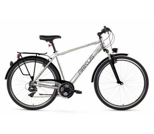 Bicicleta trekking Arkus Czajka M Argintiu/Verde 2016