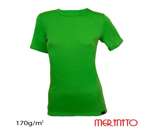 Tricou First Layer Merinito Dama Verde Forest