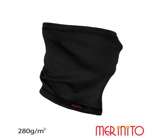 Neck tube Merinito 280g/mp Negru