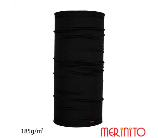 Neck tube Merinito 185g/mp Negru