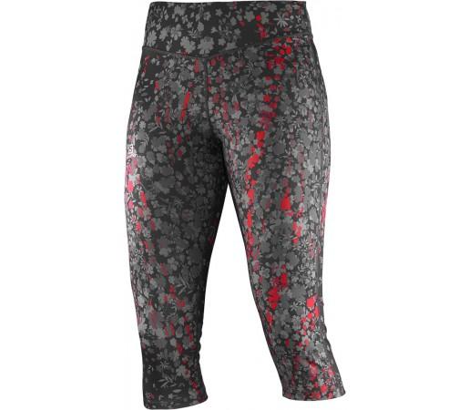 Pantaloni Salomon Elevate 3/4 Tight W Negru/Rosu