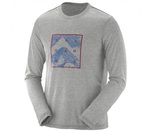 Bluza Salomon Explore Graphic Ls Tee M Gri