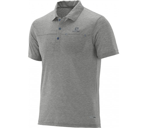 Tricou Salomon Explore Polo M Gri Deschis