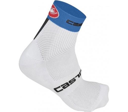 Sosete ciclism Castelli Free 3 Alb/ Albastru