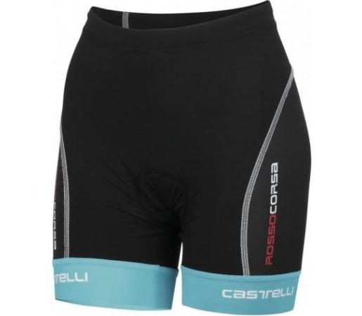 Pantaloni triatlon Castelli W Free TRI Negru/ Albastru