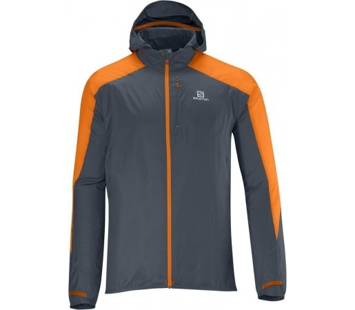 Geaca Salomon Fast Wing Hoodie M Grey- Orange