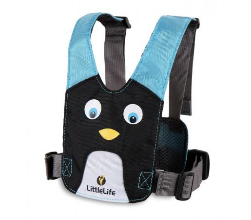 Ham de siguranta piept Little Life Pinguin Negru/Albastru
