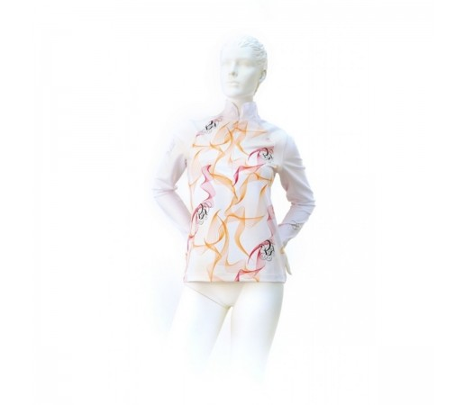 Midlayer Volkl Silver Spiro Zip Shirt White