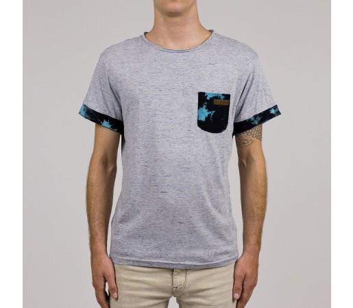 Tricou HYDROPONIC Tie Dye Pocket SS Gri