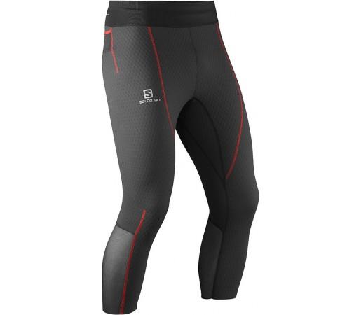 Pantaloni Salomon Exo Pro 3/4 Tight M Negru/Rosu