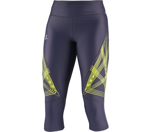 Pantaloni Salomon Intensity 3/4 Tight W Violet/Verde