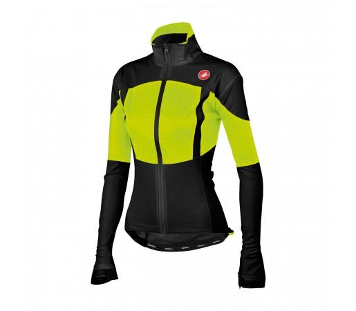 Jacheta ploaie ciclism Castelli Confronto W Negru/Verde