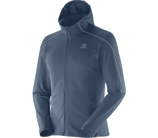 Midlayer Salomon Discovery Hooded  M Grey
