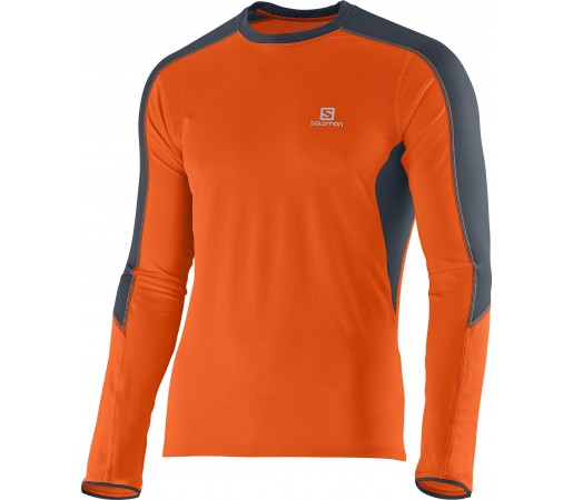 First Layer Salomon Trail Runner Ls Tee M Orange
