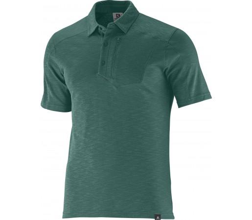 Tricou Salomon Mountain Polo 2 M Green