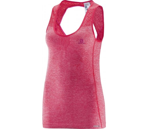 Tricou Salomon Elevate Seamless Tank W Roz