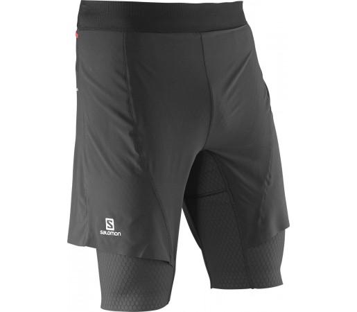Pantaloni Salomon Exo Pro Twinskin Short M Negri