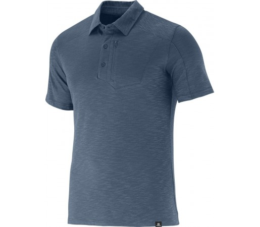 Tricou Salomon Mountain Polo 2 Albastru